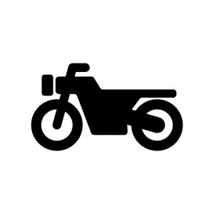 オートバイの白黒シルエットイラスト