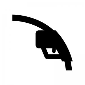 ガソリン給油の白黒シルエットイラスト