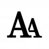 フォントサイズ変更の白黒シルエットイラスト02
