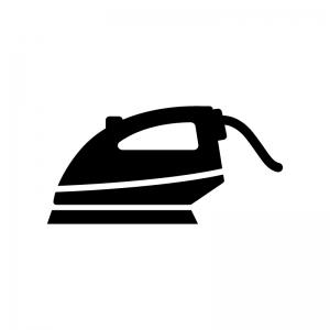 アイロンの白黒シルエットイラスト02
