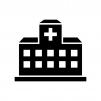 病院の白黒シルエットイラスト03