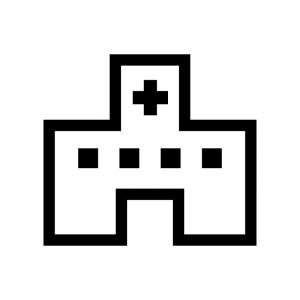 病院の白黒シルエットイラスト05