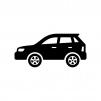 自動車・SUVの白黒シルエットイラスト02