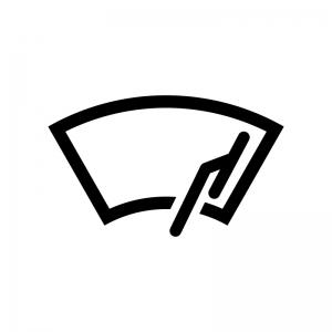 車のワイパーの白黒シルエットイラスト02