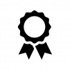 優勝メダルの白黒シルエットイラスト02