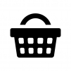 買い物カゴの白黒シルエットイラスト03