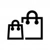紙袋の白黒シルエットイラスト02