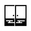 襖(ふすま)の白黒シルエットイラスト02
