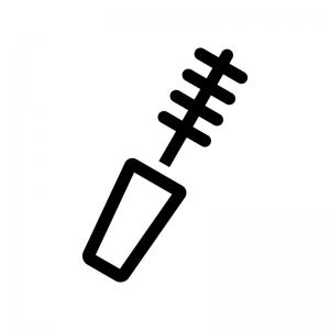 マスカラの白黒シルエットイラスト02
