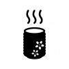 お茶・湯のみの白黒シルエットイラスト02