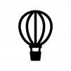 気球の白黒シルエットイラスト02