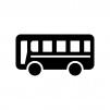 バスの白黒シルエットイラスト02