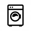 ドラム式洗濯機の白黒シルエットイラスト