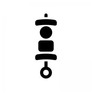 バーベキューの白黒シルエットイラスト02