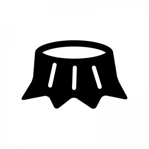 切り株の白黒シルエットイラスト02