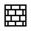 レンガの白黒シルエットイラスト02