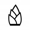 タケノコの白黒シルエットイラスト02