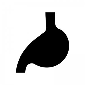 胃の白黒シルエットイラスト