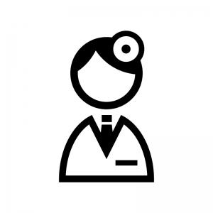 医師・ドクターのシルエット | 無料のAi・PNG白黒シルエットイラスト