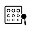 視力検査表の白黒シルエットイラスト02