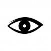 目・瞳の白黒シルエットイラスト03
