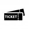 チケットの白黒シルエットイラスト02