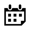 カレンダーの白黒シルエットイラスト04