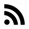 RSSフィードの白黒シルエットイラスト