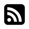 RSSフィードの白黒シルエットイラスト02
