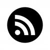 RSSフィードの白黒シルエットイラスト03