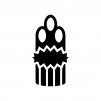 門松の白黒シルエットイラスト