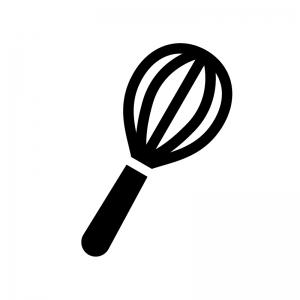 泡だて器の白黒シルエットイラスト02