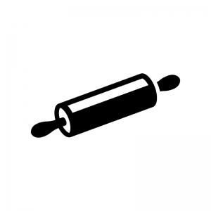 麺棒・のし棒の白黒シルエットイラスト03