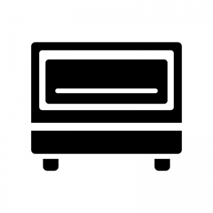 トースターの白黒シルエットイラスト02