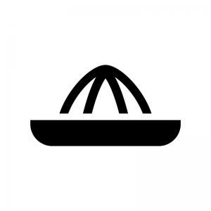 スクイーザー・果汁絞り器の白黒シルエットイラスト