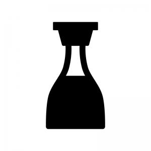 醤油の白黒シルエットイラスト