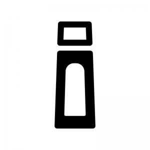 とんかつソースの白黒シルエットイラスト