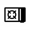 カセットガスコンロの白黒シルエットイラスト