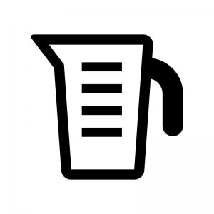 計量カップの白黒シルエットイラスト02