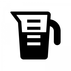 計量カップの白黒シルエットイラスト03