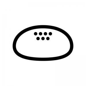 あんぱんの白黒シルエットイラスト03
