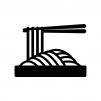 ざる蕎麦の白黒シルエットイラスト素材02