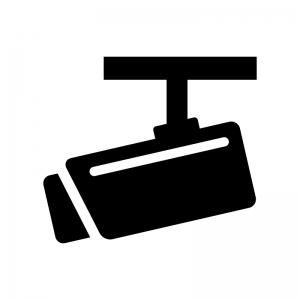 防犯監視カメラのシルエット02 無料のaipng白黒シルエットイラスト