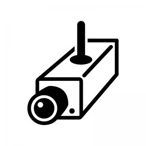 防犯監視カメラのシルエット03 無料のaipng白黒シルエットイラスト
