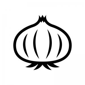 玉ねぎの白黒シルエットイラスト02