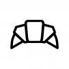 クロワッサンの白黒シルエットイラスト02