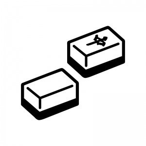 麻雀牌の白黒シルエットイラスト