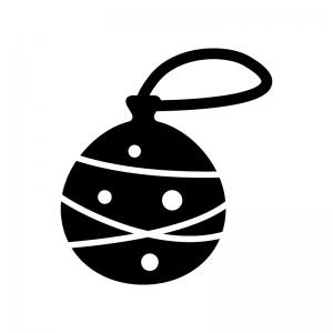 水風船の白黒シルエットイラスト02