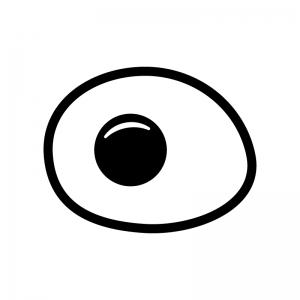 目玉焼きの白黒シルエットイラスト