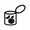 みかんの缶詰の白黒シルエットイラスト